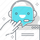 chat bot, computer, message, robot, support, virtual assistant, web site icon