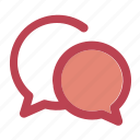 chat, chatting, communication, interaction, message, talk icon