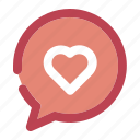 chatting, heart, like, love icon
