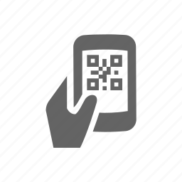 bar, barcode, code, hand, phone, qr, scanner icon