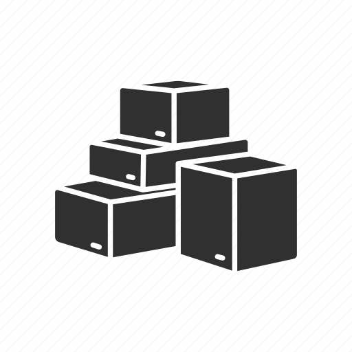 box, boxes, delivery boxes, pile of boxes icon