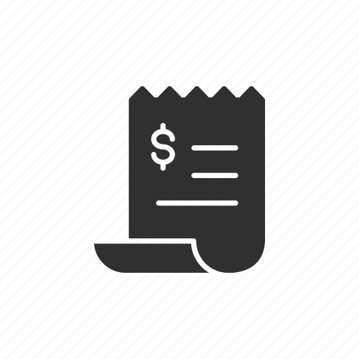 paper, pay, payment, receipt icon