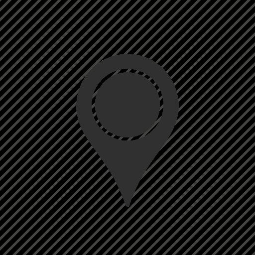 gps, locate, location, map location icon