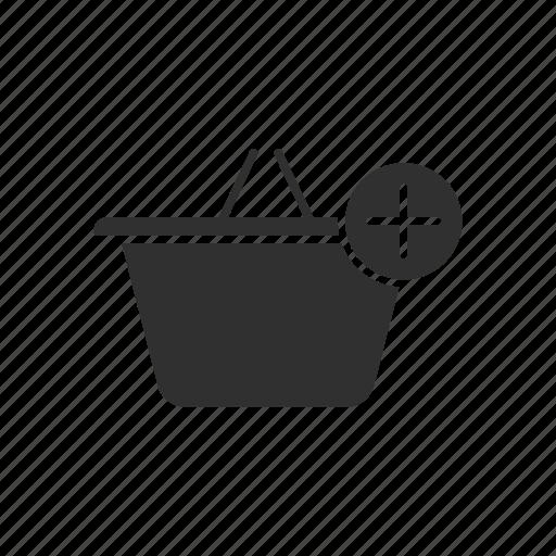 add, add to basket, basket, online shopping icon
