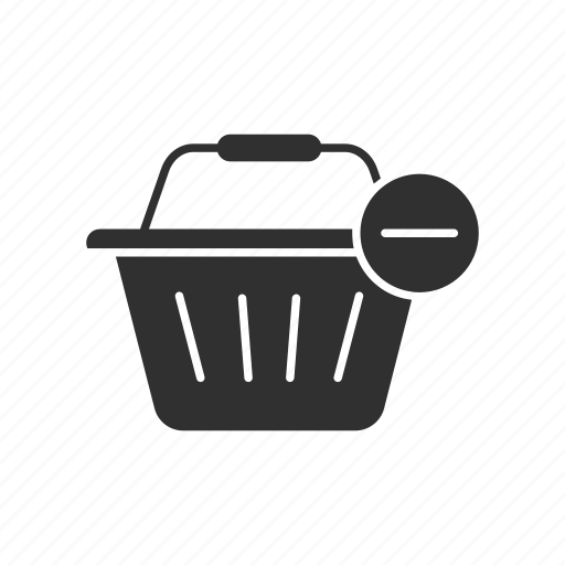 basket, online shopping, remove, remove from basket icon