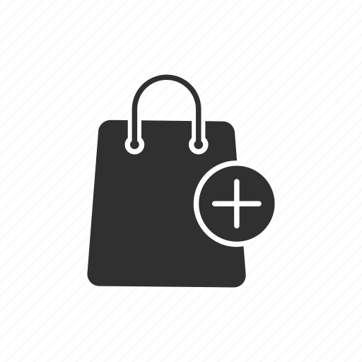 add, add to bag, bag, online shopping icon