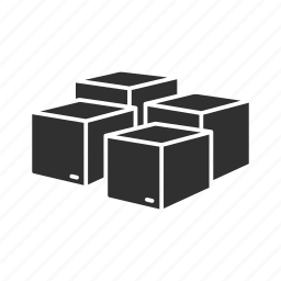 boxes, multiple boxes, online packages, packages icon