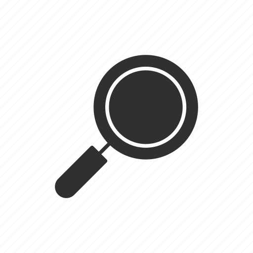 find, magnifying glass, search, see icon