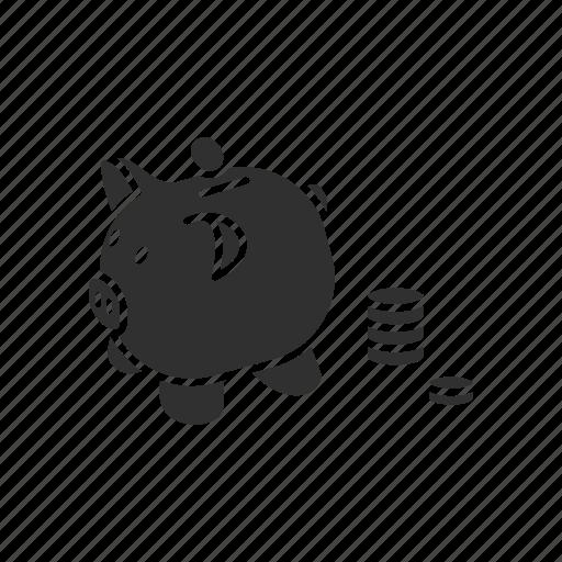 bank, piggy bank, save, save more icon