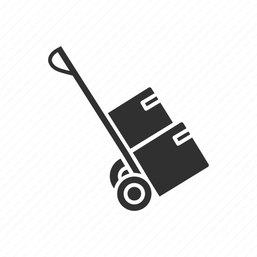 box, boxes, boxes on a dolly, deliver icon