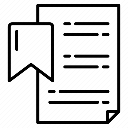 bookmark, checklist, favorite, list, menu, ribbon icon