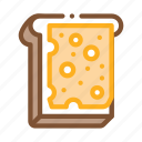 bread, breakfast, cheese, dairy, food, sandwich, sliced