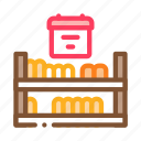 bread, cheese, counter, dairy, food, shelf, sliced
