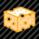 bar, bread, cheese, coarse, dairy, food, sliced