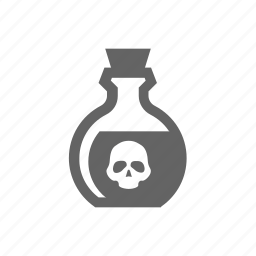 chemical, death, flask, laboratory, poison, potion icon