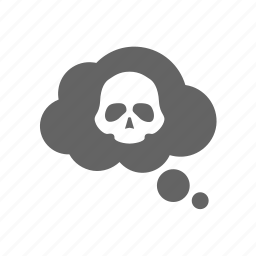 cloud, death, gas, poison, skull icon