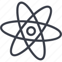 atom symbol, biology, chemistry, medicine, research, science icon
