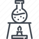 boil, chemistry, flask, heat, lab, science, test icon