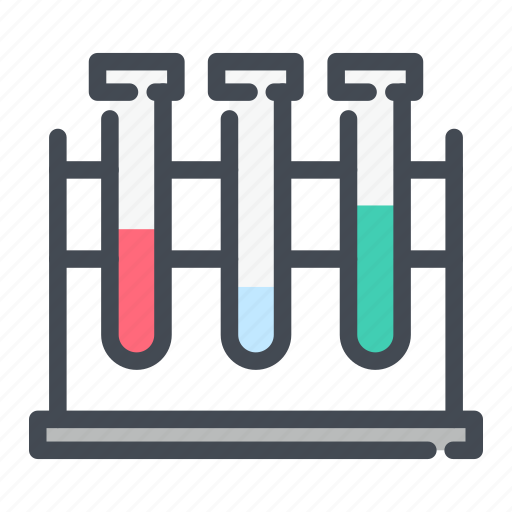 chemistry, experiment, flask, laboratory, test, tube icon