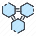 cell, chemical, chemistry, formula, science, structure icon