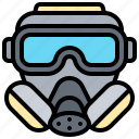 chemical, gas, hazard, mask, protection icon