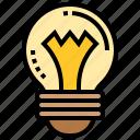 bright, bulb, idea, lamp, light