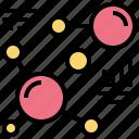 atom, molecule, compound, science, particles icon