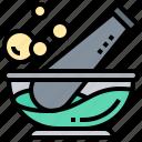 grind, medicine, mortar, pestle, pharmacy icon