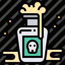bottle, danger, deadly, poison, venom icon