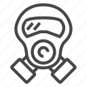 gas, mask icon