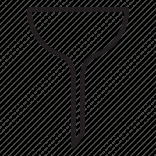 apparatus, funnel, glass, laboratory, pipe, tool icon