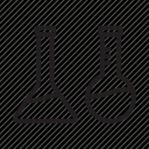 apparatus, bottle, chemistry, florenceflask, laboratory, liquid icon