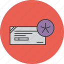 banking, check, cheque, details, financial, instrument, payment icon