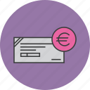 banking, business, cheque, euro, financial, instrument, payment