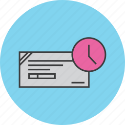 banking, cheque, expiry, financial, instrument, payment, schedule icon