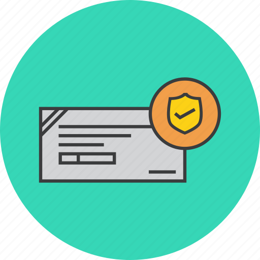 banking, financial, instrument, payment, safe, secure, verified icon