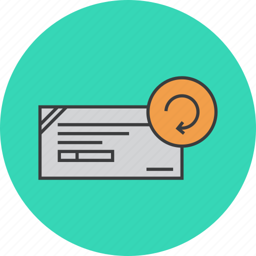 banking, cheque, details, financial, instrument, modify, update icon