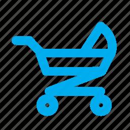baby cart, child cart, children cart, children product, toddler cart icon