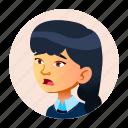 child, china, emotion, face, girl, japan, people icon