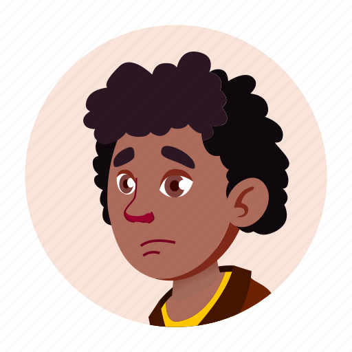 african, black, boy, child, expression, face, people icon