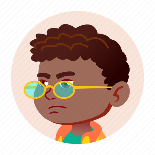 african, avatar, black, boy, child, expression, face icon
