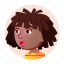 african, avatar, black, child, expression, face, girl icon