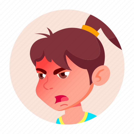 avatar, child, emotion, expression, face, girl, people icon