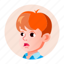 avatar, boy, child, emotion, expression, face, people icon