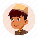 arab, boy, child, emotion, expression, face, people icon