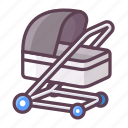 caboose, carriage, wagon, baby, childcare, trolley icon