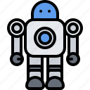 child, childhood, kid, robot, toy icon