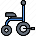 child, childhood, kid, toy, tricycle icon