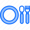 child, childhood, cutlery, kid, plate, toy icon