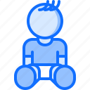 baby, child, childhood, kid, sitting, toy icon